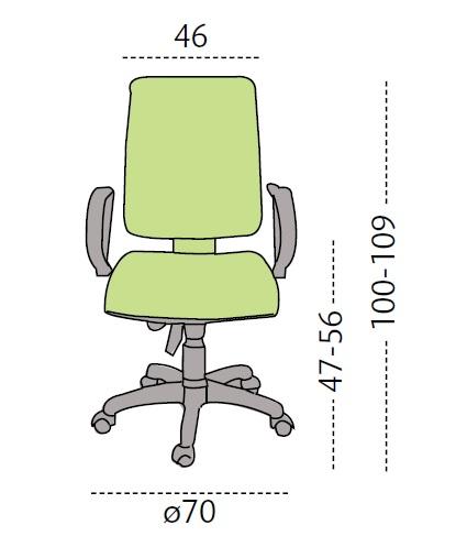 Medidas silla POP de LUYANDO