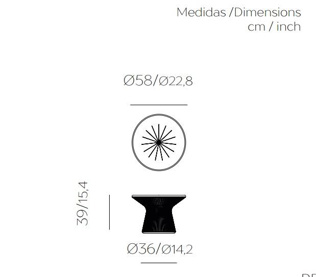 Medidas mesa de exterior, con luz opcional