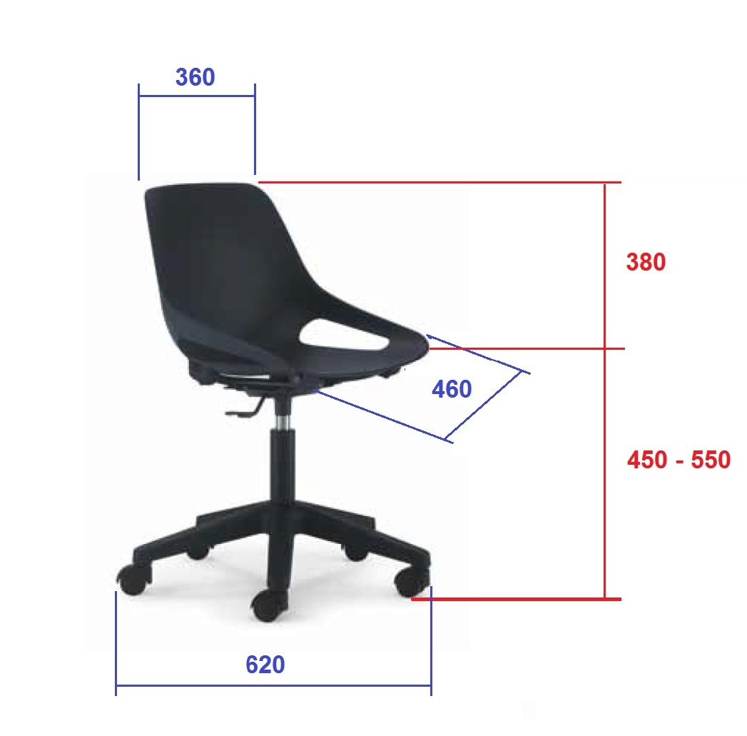 Youth swivel chair for desk and computer Q5 luyando