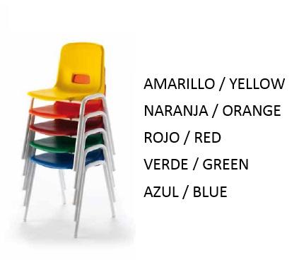 colores sillas escolares