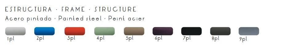 Colores acabado estructura taburete AQUA
