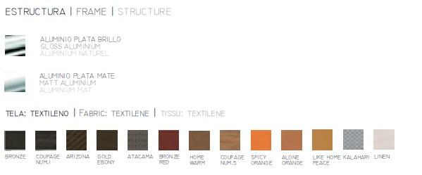 Detalle Paraviento de terraza Acabados textilene