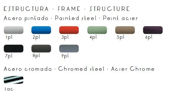 Colores acabado estructura taburete para bar YOKO