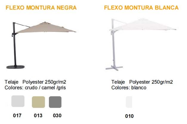 Acabados Parasol Serie BAHIA FLEXO EZPELETA