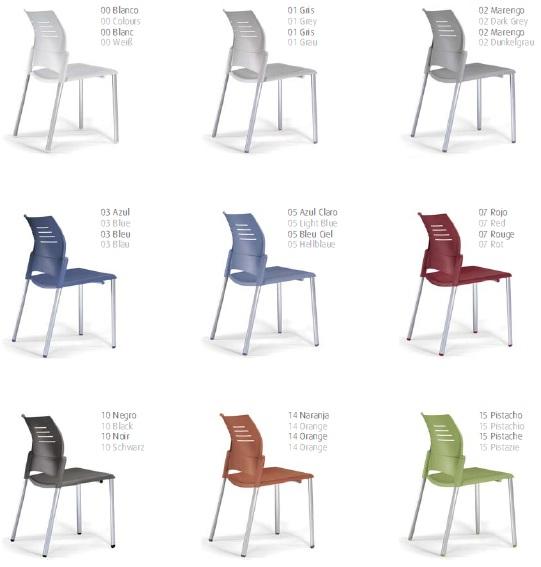 Colores silla SPACIO - Silla de oficina