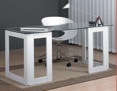 Sobre de mesa de cristal templado para mesa o escritorio for Mesa cristal escritorio ikea