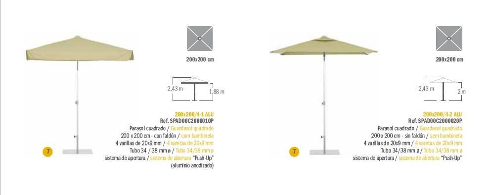 Modelos Parasol Serie Aluminio EZPELETA_a