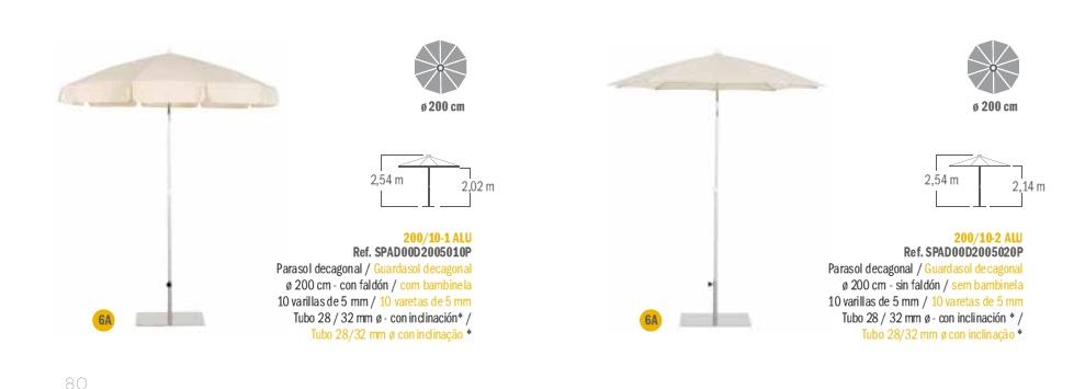 Modelos Parasol Serie Aluminio EZPELETA_b