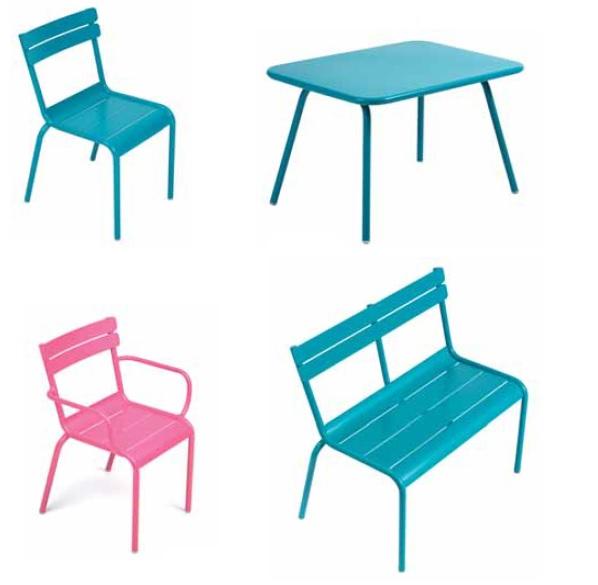 COLECCION LUXEMBOURG FERMOB silla,banco y mesa infantil KIDS