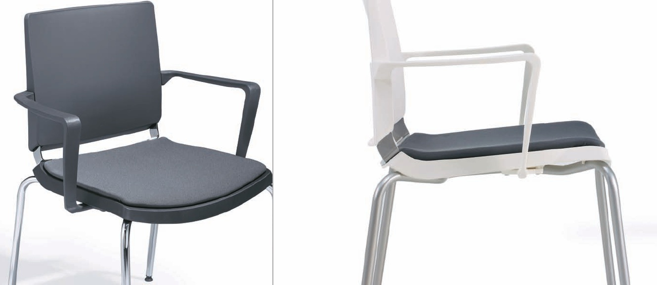 DILEOFFICE ATENEA asiento tapizado opcional