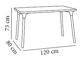 Measures terrace table Ripoll de Resol