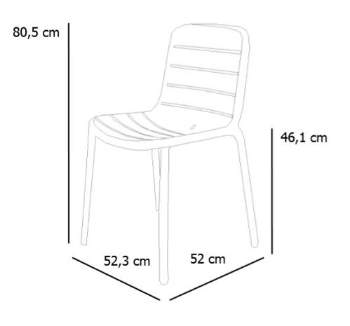 Chair sizes GINA by RESOL - Contract chair