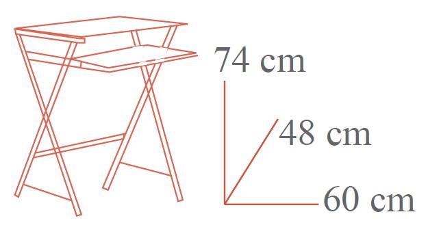 Medidas escritorio de cristal pequeño mesa ordenador