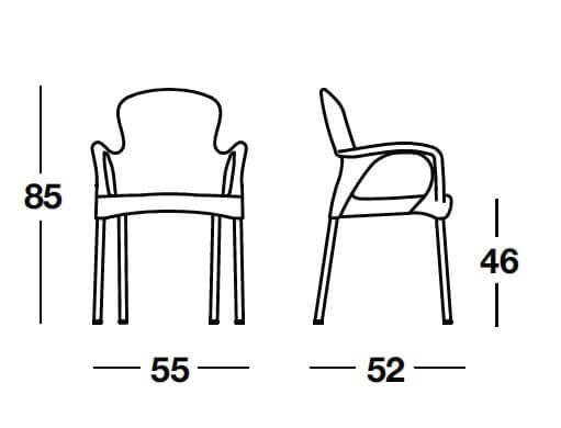 Sill n apilable mobiliario hosteler a muebles de for Medidas de mobiliario de una casa