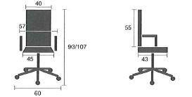 Detalle medidas silla de oficina sop832004