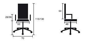 Detalles medida silla ergonómica modelo Evolution de Dileoffice