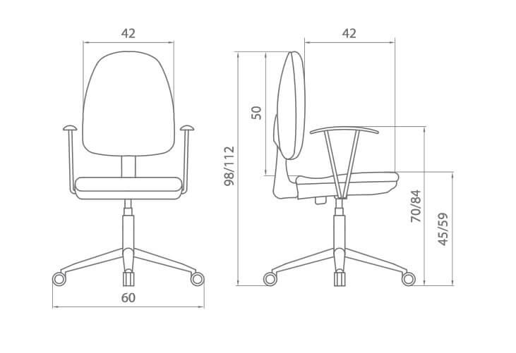 sillas oficina y escritorio flax de dileoffice