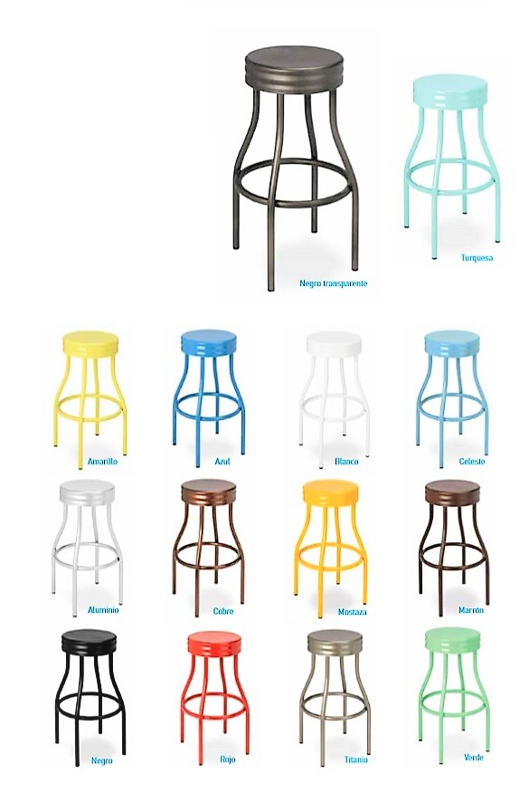 Colors bar stools in retro vintage colors Buy online