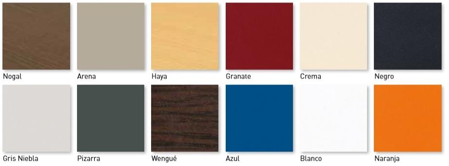 Colores tablero compact fenólico para mesas de terraza de hostelería