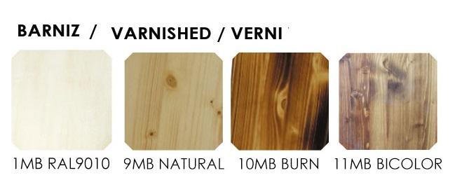 Colores barniza madera de pino macizo para mesa vintage estilo retro