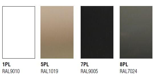 Colores de pintura para la estructura metálica del paraviento de terraza