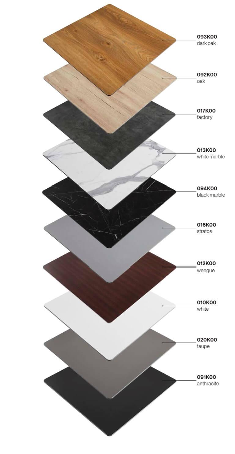 Colores del tablero compacto disponible. Carta completa 1104 2018