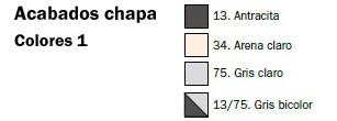 Colores taquilla metálica