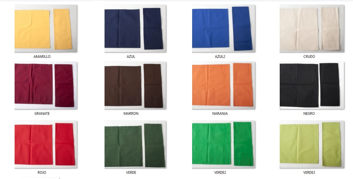 Canvas colors for hammocks and chair and armchair director
