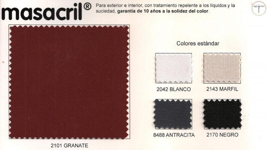 Colors of fabrics to manufacture hospitality umbrellas