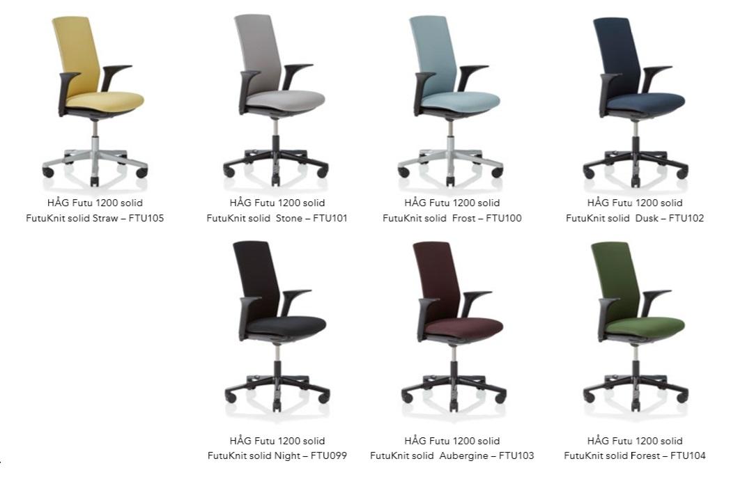 Gama de colores silla HAG FUTU solid futuknit