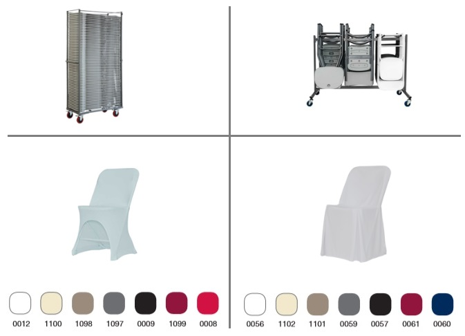 ZOWN Basic Alex catering folding chair covers, ties and trolleys accessories