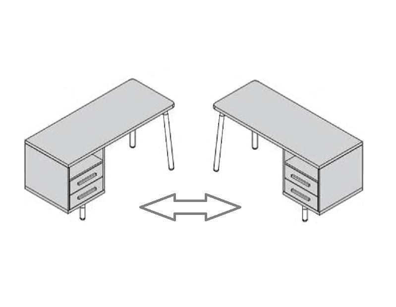 mesa escritorio juvenil con cajonera reversible