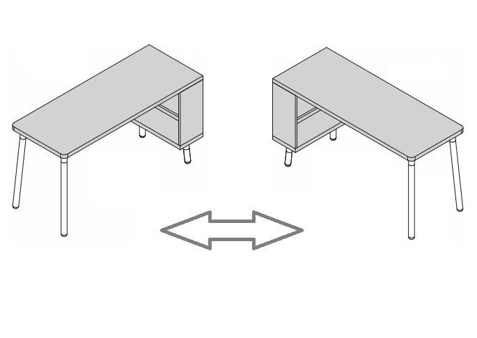 mesa escritorio con estantería reversible para habitación juvenil