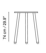 Medidas mesa CORSICA de ISIMAR para terrazas de hosteleria