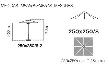 Ezpeleta 2.5 x 2.5meter square aluminum foil measures
