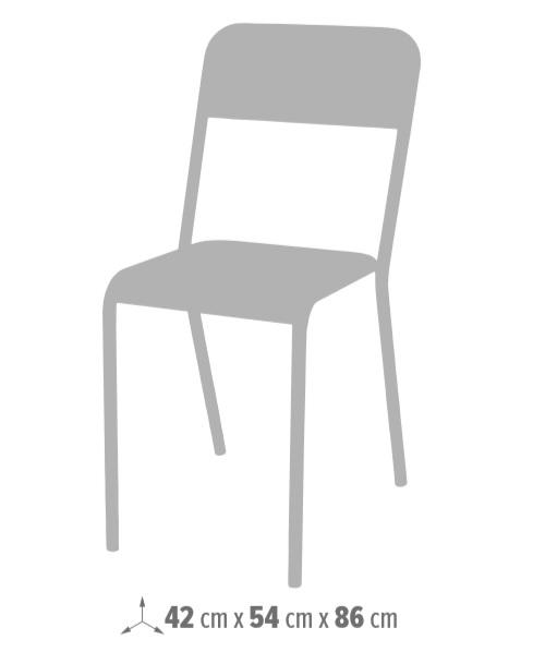 Medidas sillas vintage de madera con estructura metálica california