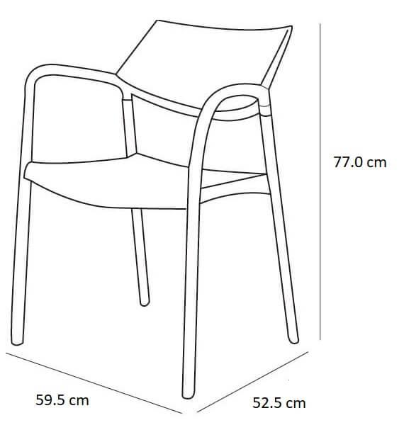 Medidas silla de terraza de bar Splash Aire Resol
