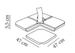 Medidas pie stone Piedra de cemento para parasoles