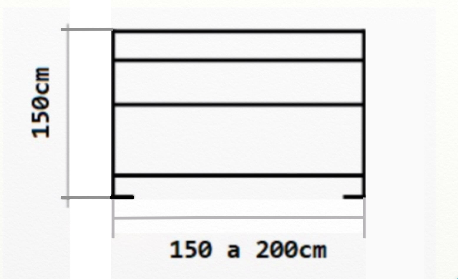 medidas del separador paraviento de terraza rigido para hostelería