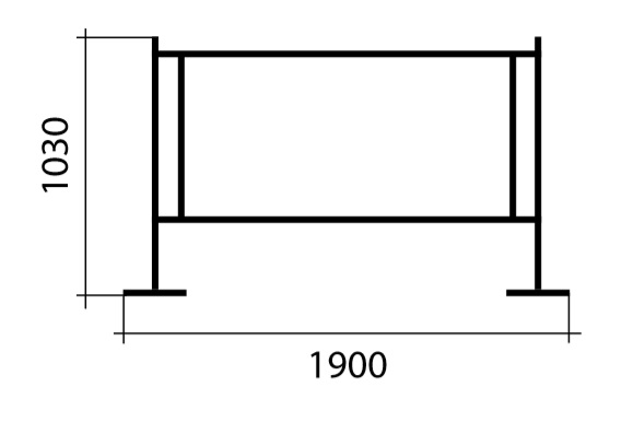 Medidas separador textil para terrazas de bares y cafeterías