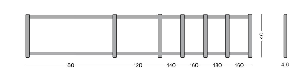Medidas disponibles de separador acústico (tapicería fonoabsorbente)