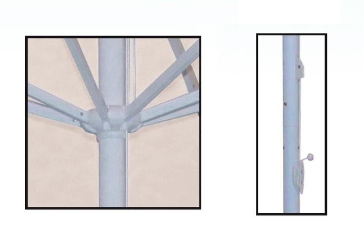 Parasol details of 3m diameter for hospitality hoses
