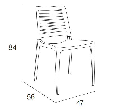 Medidas silla park sin brazos