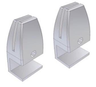 Screen with Fixed Clamps